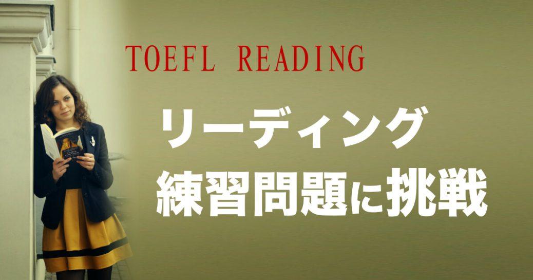 【TOEFL IBT対策】リーディングのサンプル問題と解説