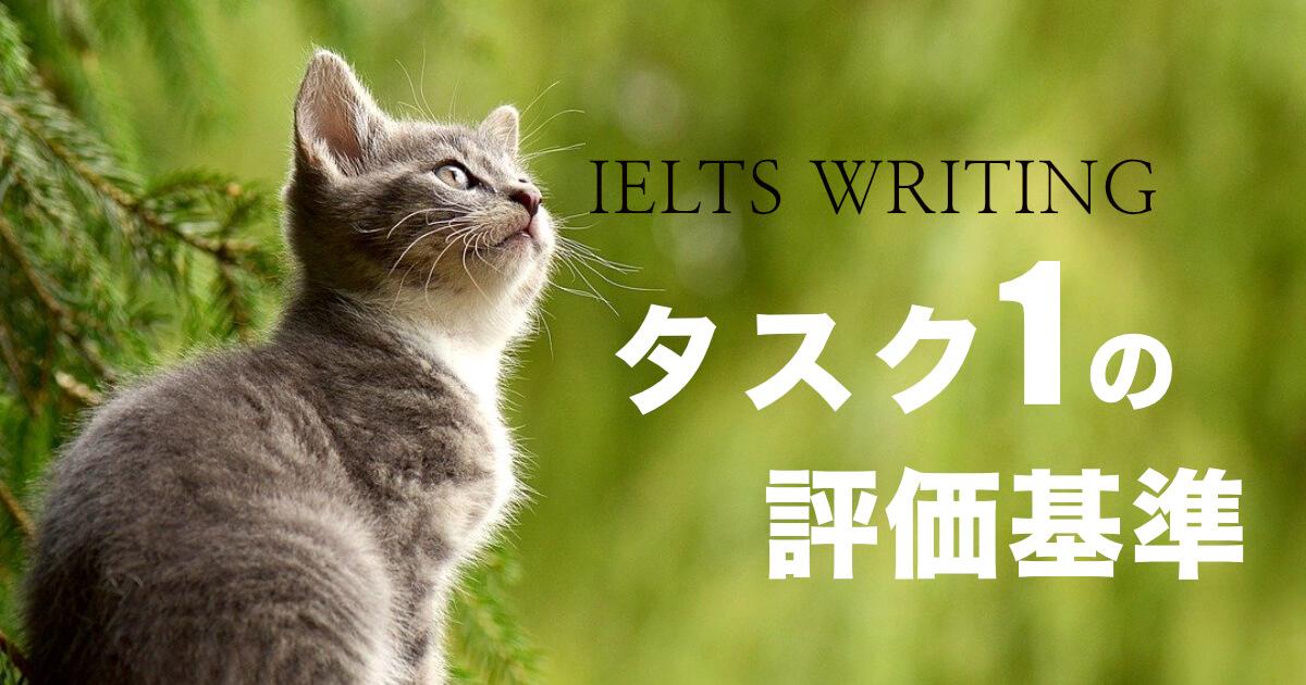 【IELTS】ライティングタスク1の評価基準を日本語でスコア別に解説