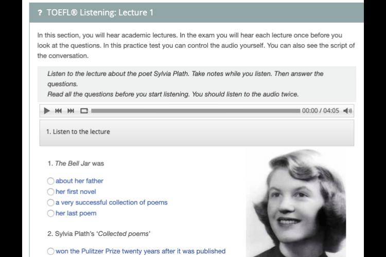 TOEFL対策にオススメのExam Englishの参考画像