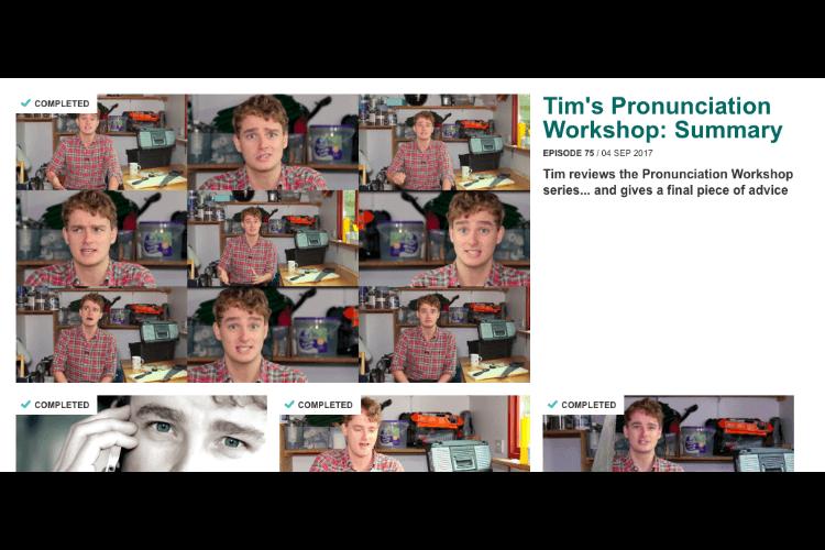 TOEFLリスニング対策にオススメのBBC Learning English Pronunciation 参考画像