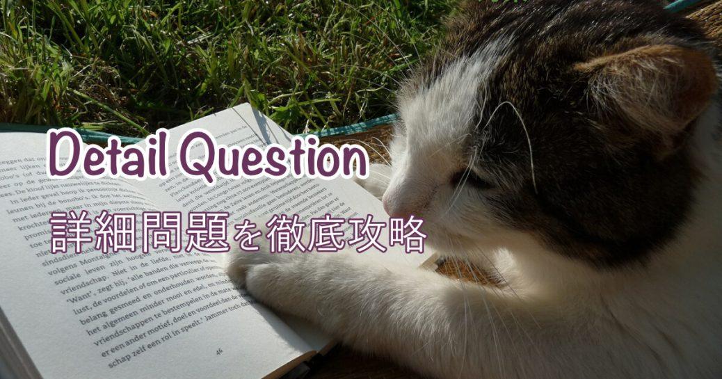 Detail Questions「詳細」問題の解き方を徹底解説【TOEFLリーディング】