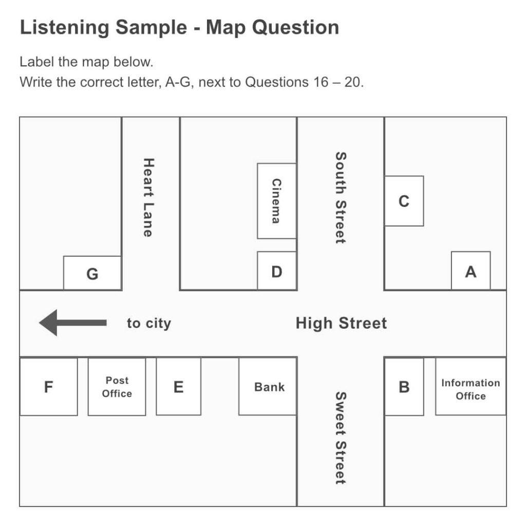 IELTSリスニングサンプル|地図問題