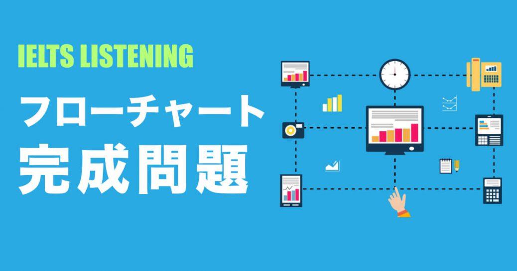 【フローチャート完成問題と音源】IELTSリスニング教材と対策