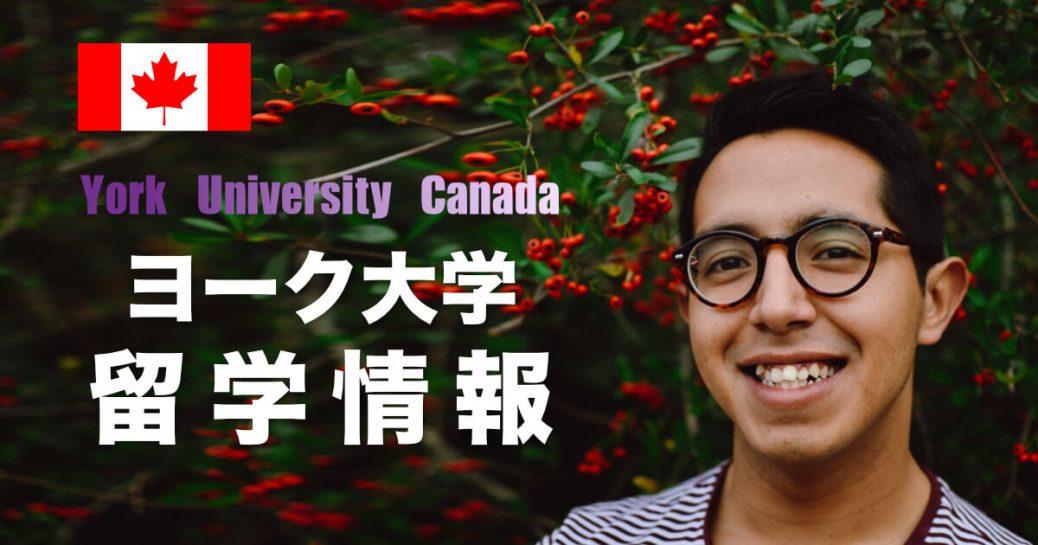 【海外進学】ヨーク大学(カナダ)の特徴と留学方法を紹介 (York University)
